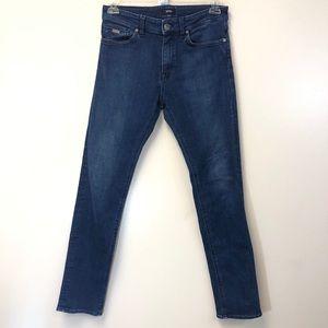 BOSS HUGO BOSS dark wash skinny jean 30/32